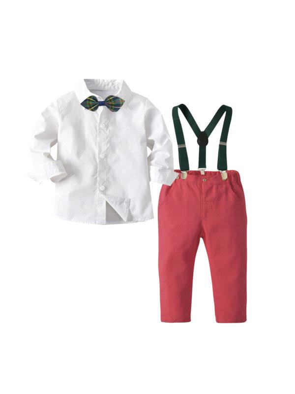 【12M-7Y】Boys Bib Gentleman Suit