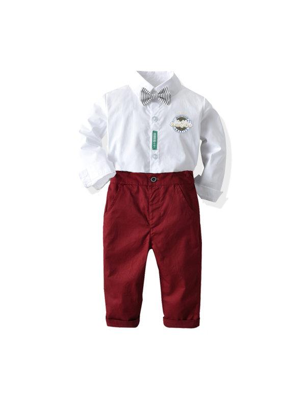 【12M-9Y】Boys' Shirts Trousers Suit