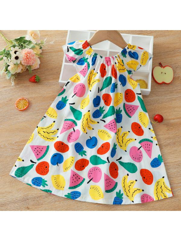 【18M-6Y】Girl Sweet Fruit Pattern Sleeveless Dress