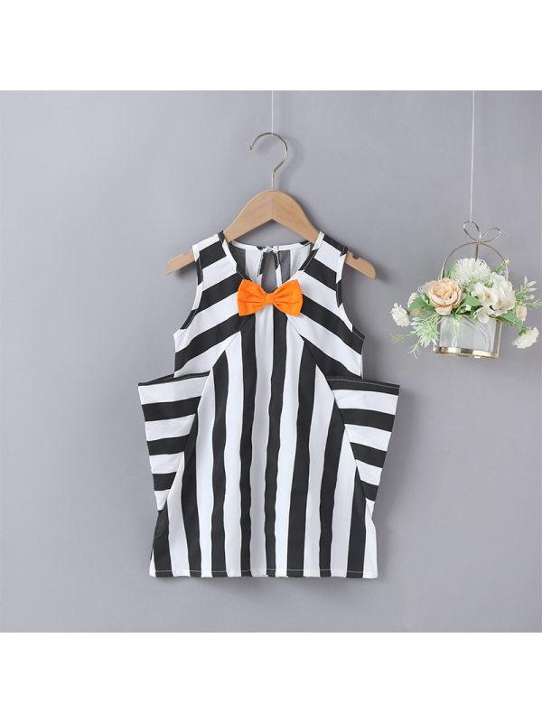 【18M-7Y】Girls Striped Vest Dress