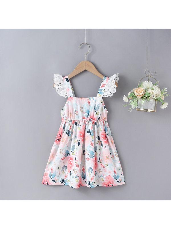 【18M-7Y】Girls Print Camisole Dress