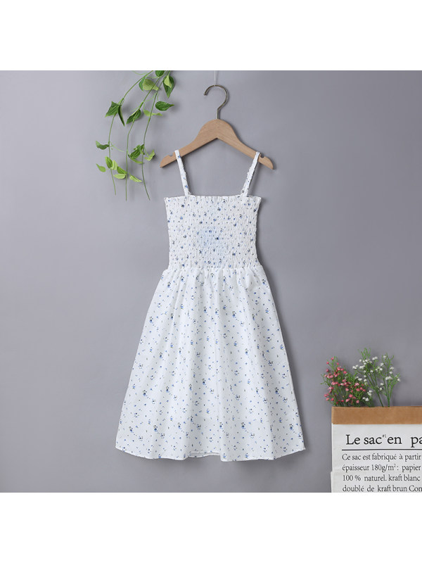 【3Y-13Y】Girls Floral Sling Bohemian Dress