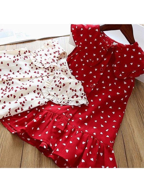 【18M-7Y】Girl's Love Doll Collar Sleeveless Male Vest Dress