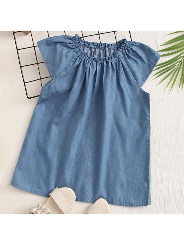 【6M-2.5Y】Baby Girl Sweet Denim Dress