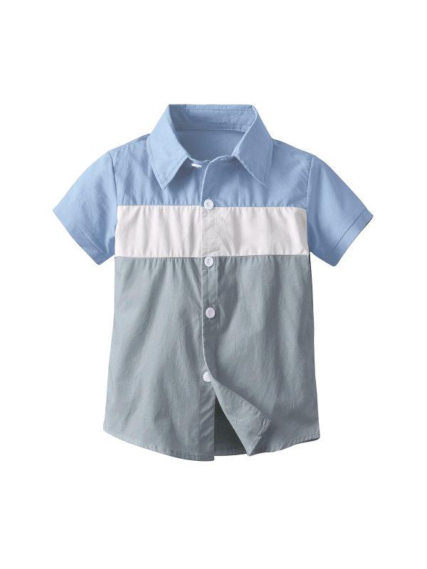 【18M-7Y】Boy Casual Pure Cotton Short-sleeved T- Shirt
