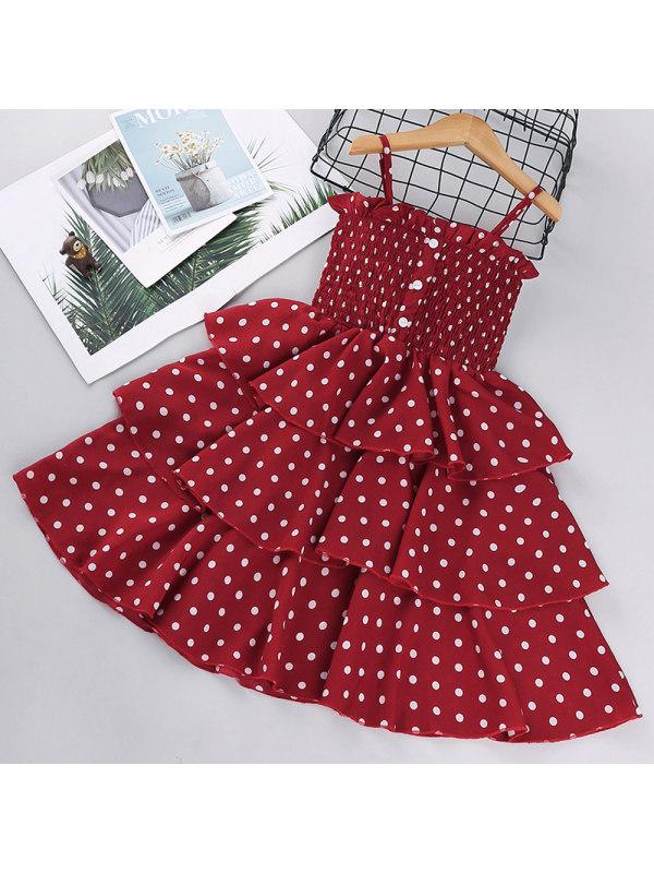 【2Y-11Y】Girls Polka Dot Dress