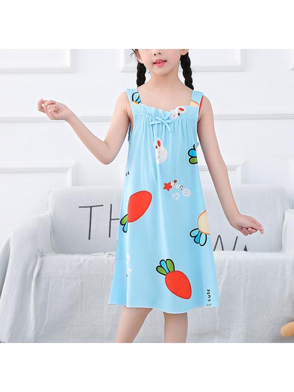 【2Y-13Y】 Girls Casual Cartoon Suspender Dress