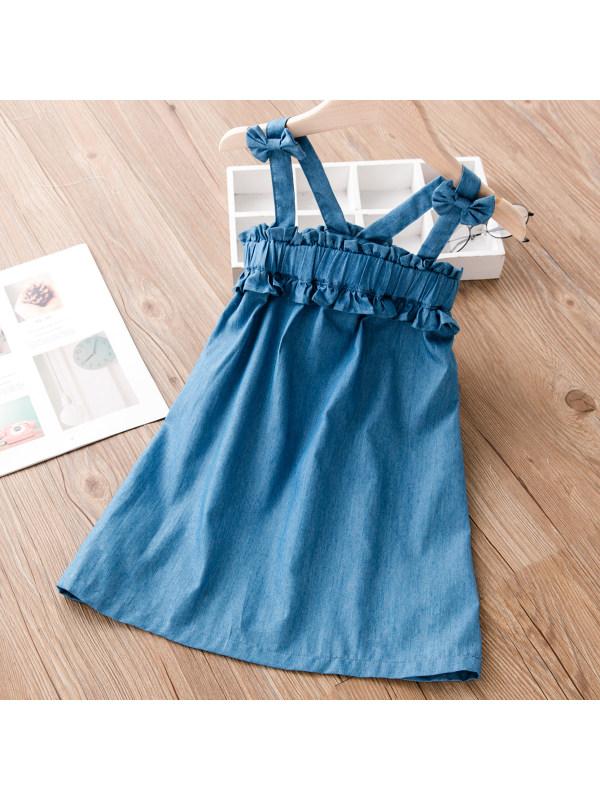 【18M-7Y】Girl Sweet Denim Dress
