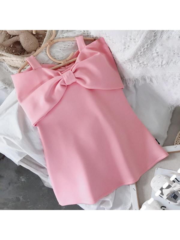 【18M-7Y】Sweet Bow Pink Dress