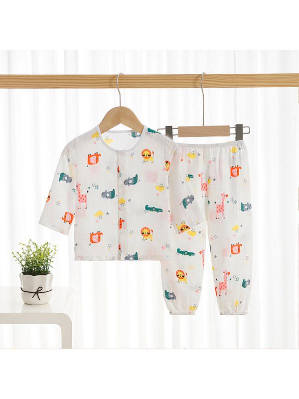 【12M-9Y】Boys Cotton Cartoon Home Clothes Casual Suit
