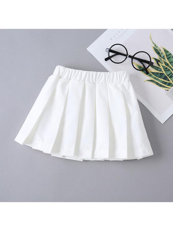【18M-7Y】Girls White Pleated Skirt