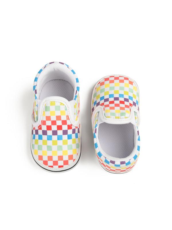 Multicolor Checkerboard Baby Shoes
