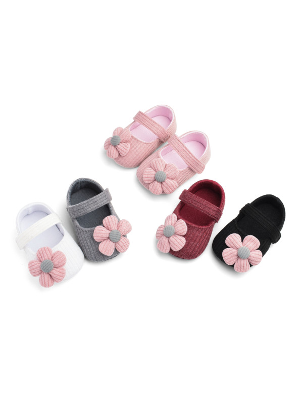 Woolen Flower Princess Baby Shoes Baby Shoes Soft Sole Baby Toddler Shoes