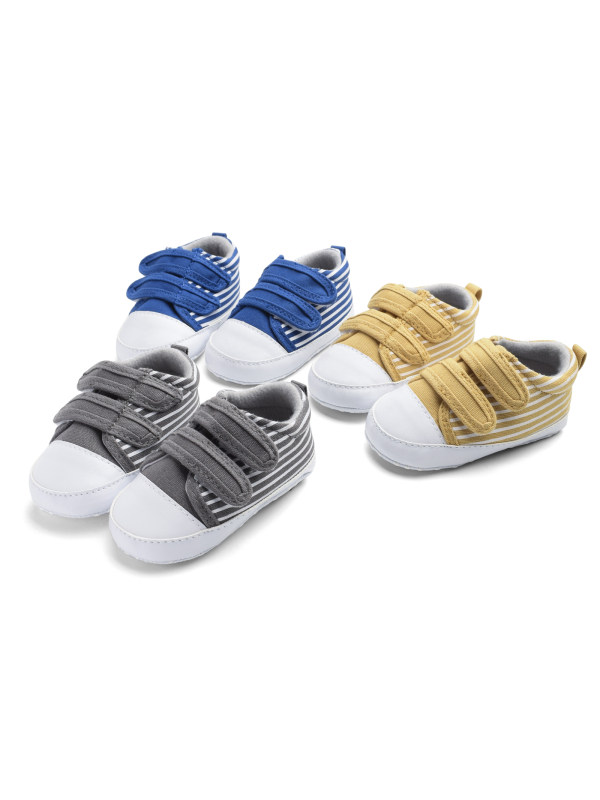 Boys' Multicolor Stripes Baby Canvas Shoes Baby Shoes