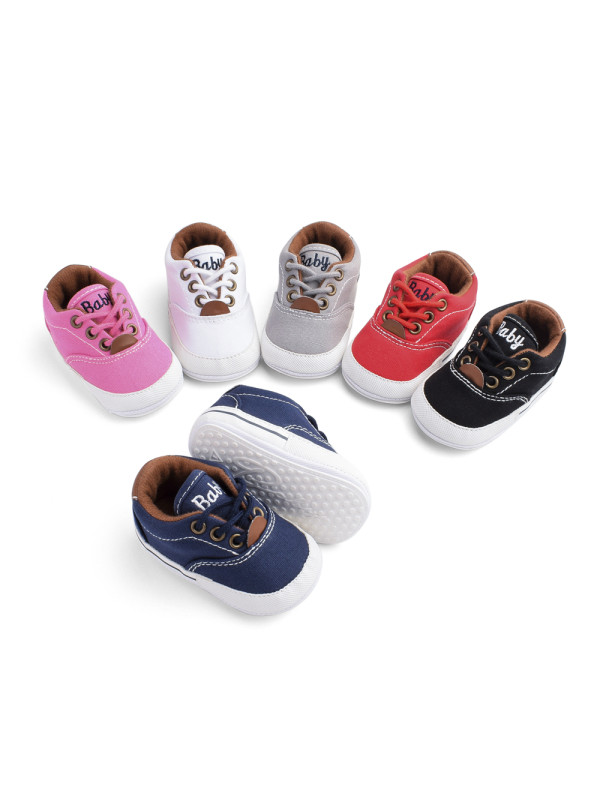 Soft Rubber Sole Baby Canvas Shoes