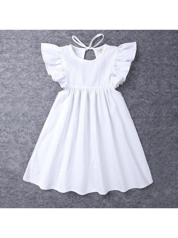 【18M-7Y】Girls' Short-sleeved Ruffle Dress