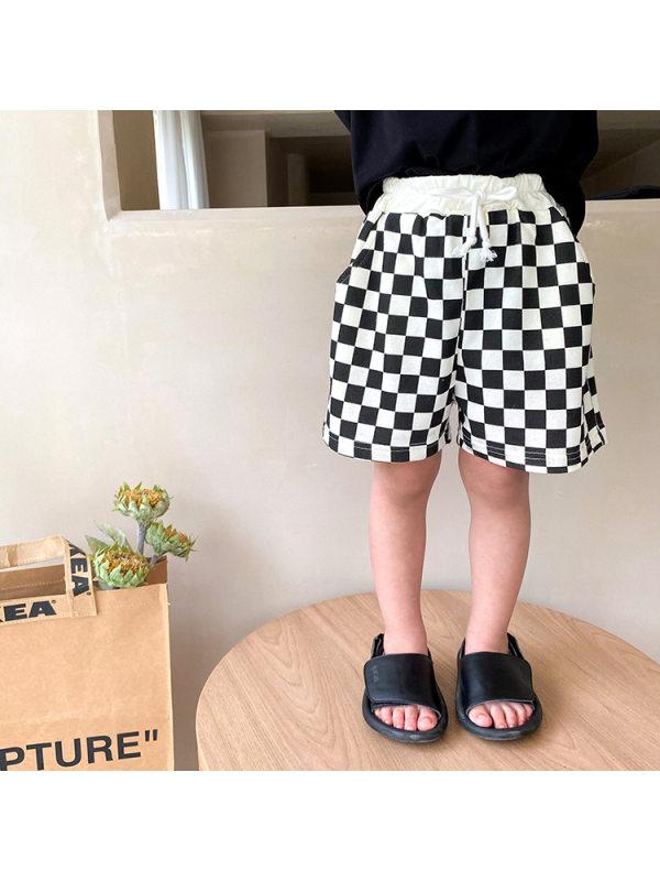 【12M-9Y】Boy's Trendy Plaid Shorts
