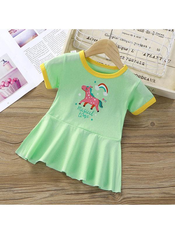 【12M-5Y】Girls Cartoon Print Dress