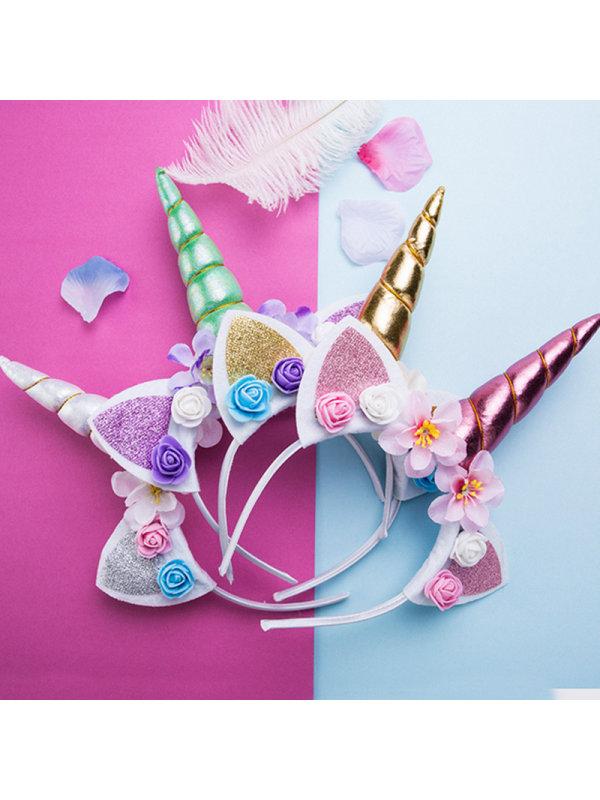 Children's Unicorn Flower Headband
