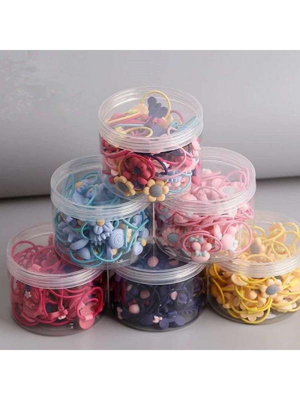 40 Pieces Of Fruit Cartoon Sweet Children's Hair Tie Rubber Band