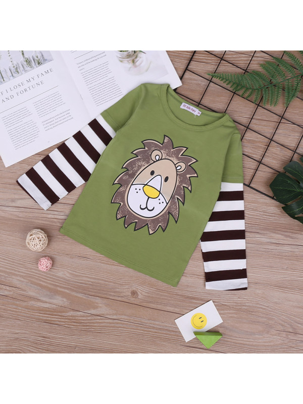 【18M-7Y】Long-sleeved Round Neck T-shirt