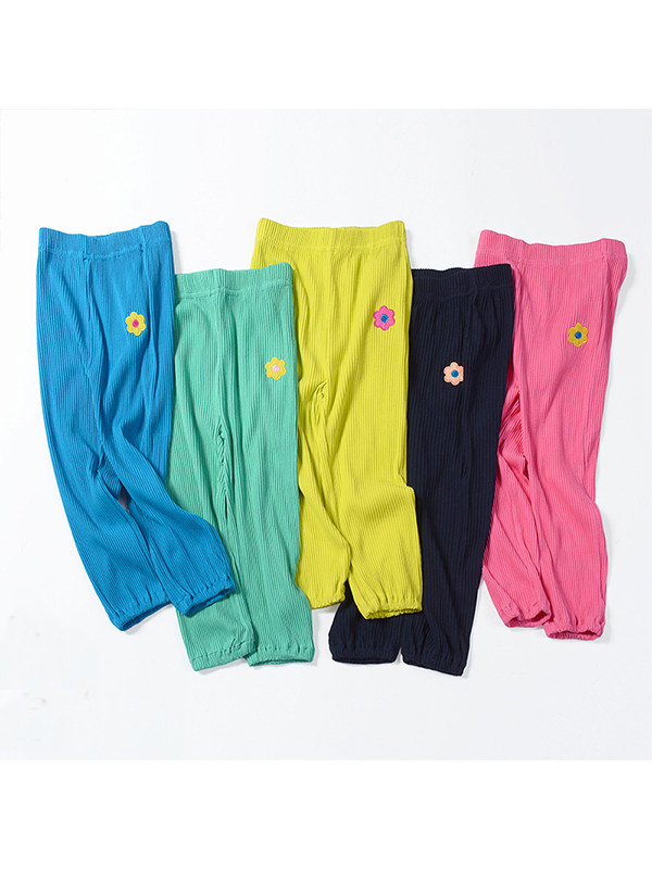【18M-9Y】Girls Embroidered Casual Trousers