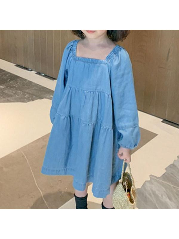 【2Y-9Y】Girls Denim Dress