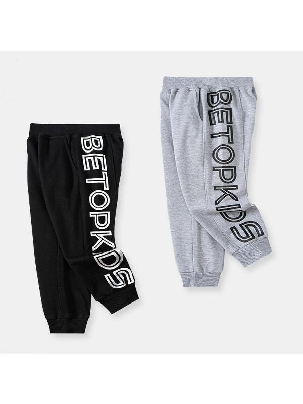 【18M-9Y】Boys' Letter Print Trendy Sports Pants