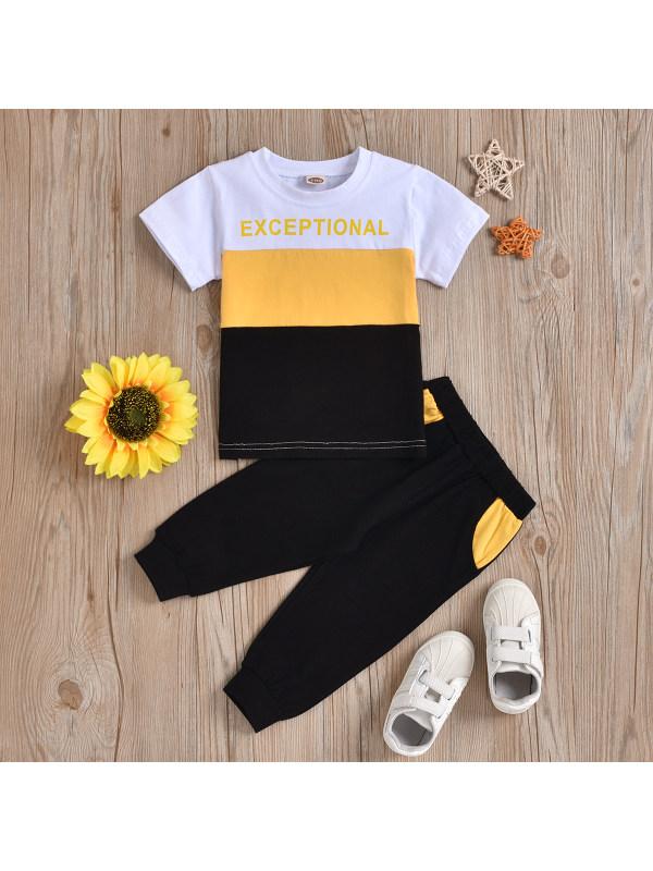 【2Y-7Y】Boys Short-sleeved Sports Suit