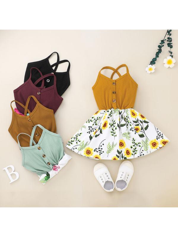 【12M-5Y】Girls Sling Floral Dress