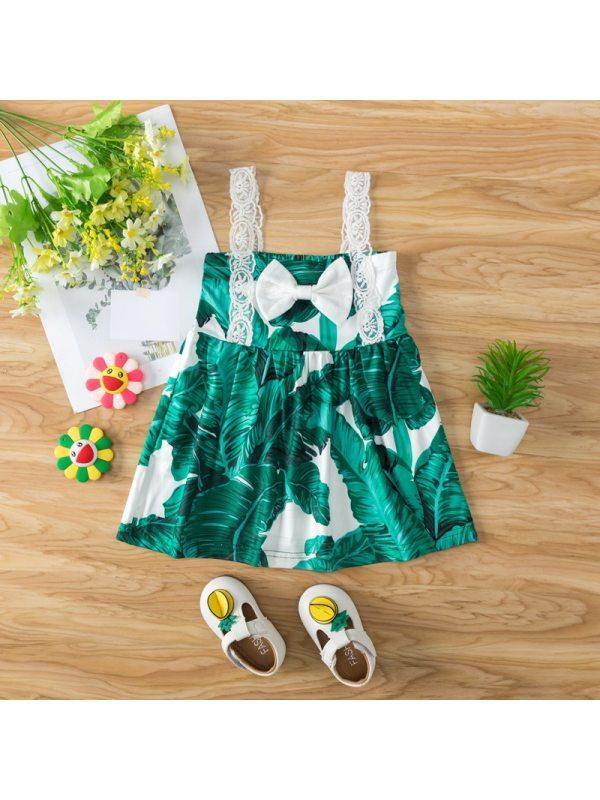 【9M-4Y】Baby Bowknot Sling Dress
