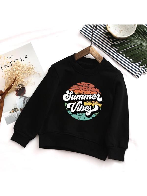 【12M-7Y】Boys Round Neck Casual Fashion Sweatshirt