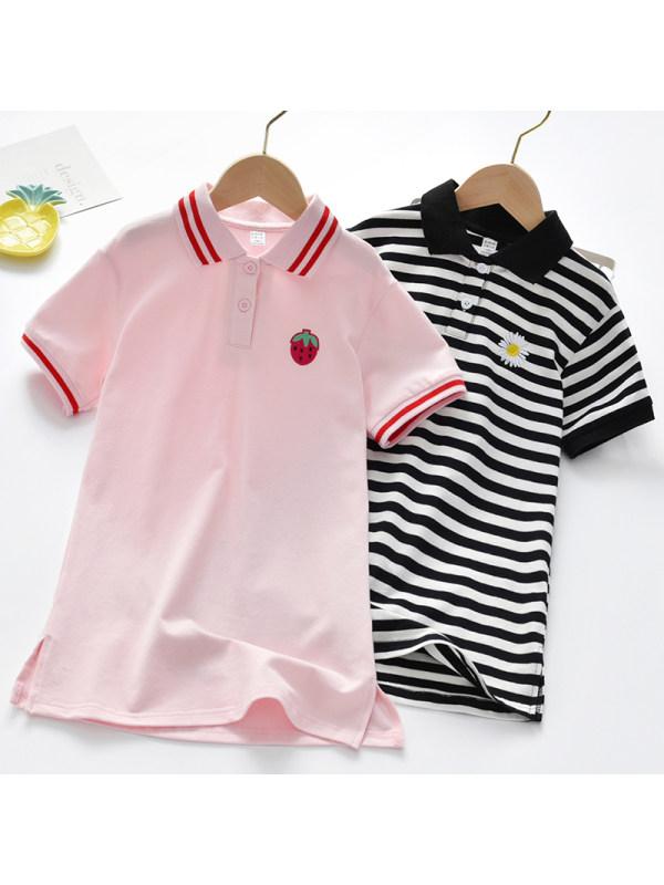 【2Y-9Y】Girls Sweet Short Sleeve Dress