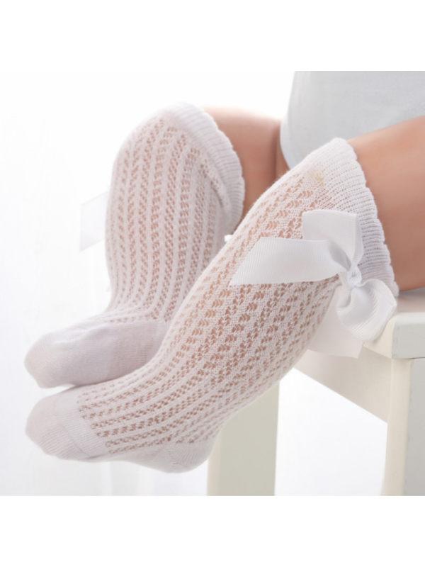 Newborn Socks Summer Thin Mesh Bow Socks