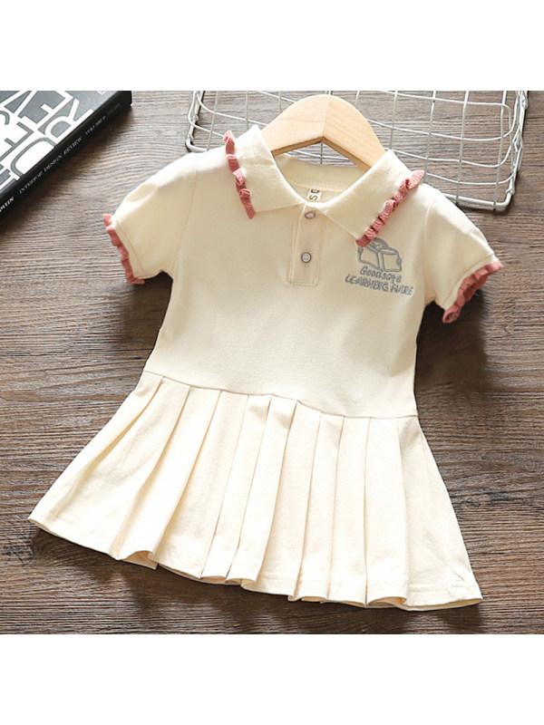 【12M-5Y】Girl Sweet Beige Short Sleeve Dress