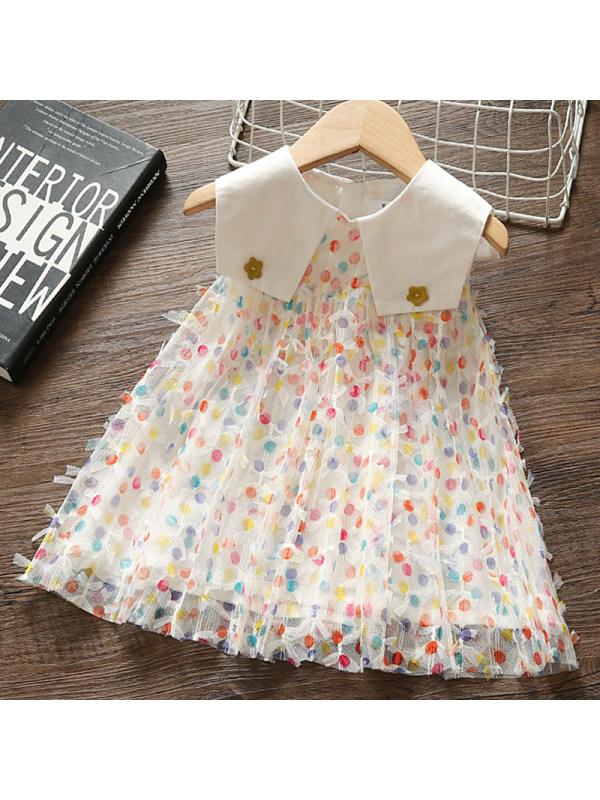 【12M-5Y】Girl Sweet Lace Sleeveless Dress