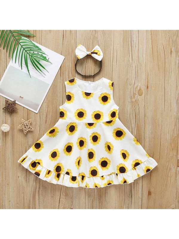 【12M-5Y】Girls' Printed Tank Top Dress