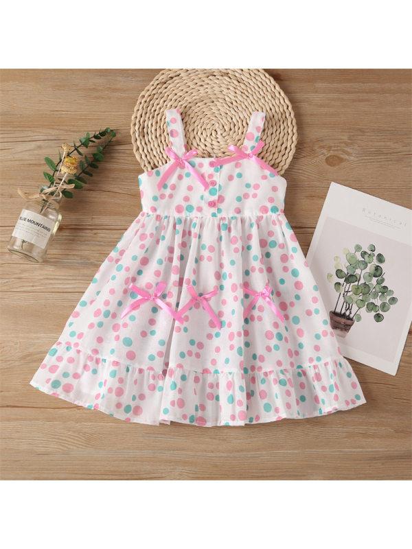 【18M-9Y】Girls Sling Casual Printed Dress