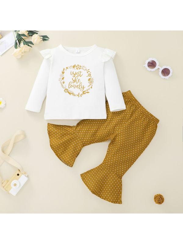 【6M-3Y】Girls' T-shirt pants suit