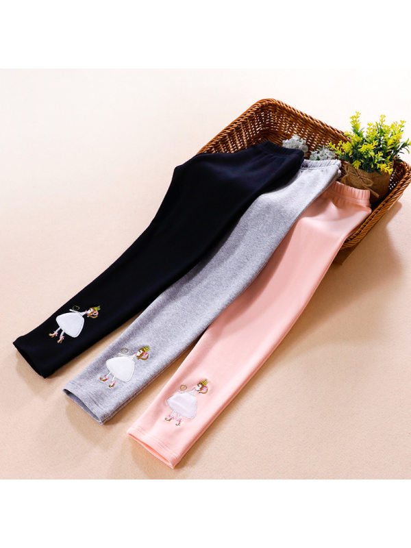 【3Y-11Y】Girls Stretch Cotton Thin Leggings