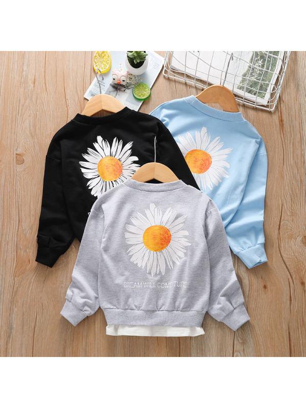 【18M-7Y】Boys Cotton Round Neck Sweatshirt