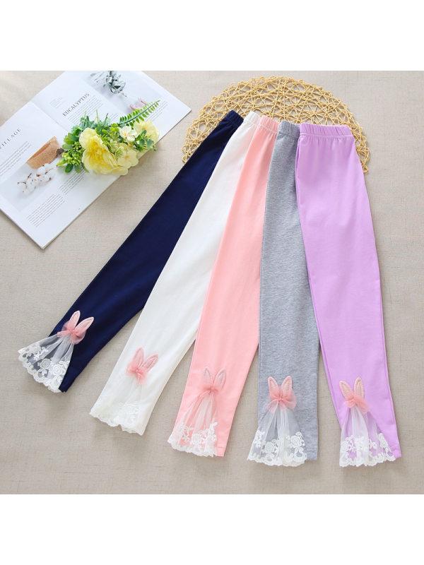 【3Y-11Y】Girls Thin Ice Silk Cotton Leggings