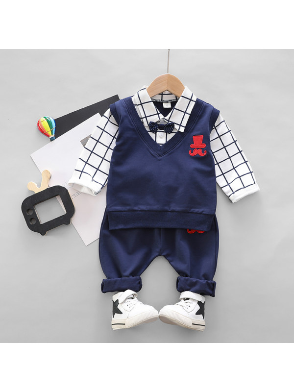 【9M-4Y】Boys Long Sleeve Two-Piece Suit