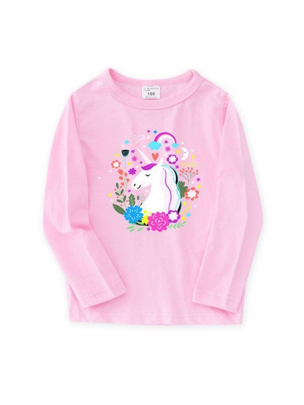 【2Y-13Y】Girls Autumn Long Sleeve Cartoon Print T-shirt