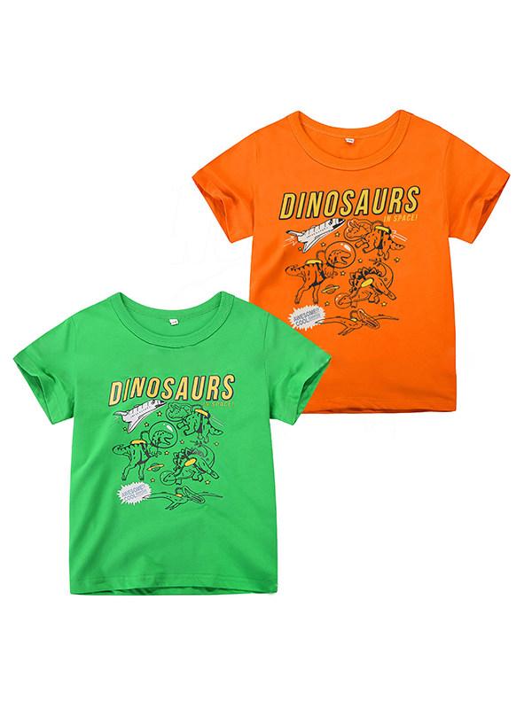 【12M-7Y】Boys Cartoon Print Short-sleeved T-shirt