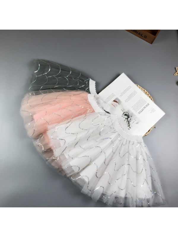 【2Y-9Y】Girls Mesh Puff Skirt