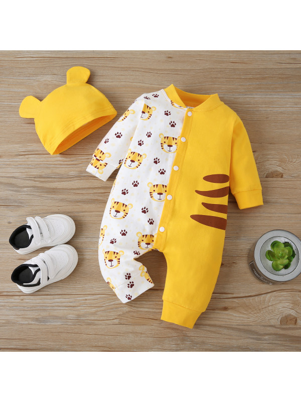 【3M-24M】Baby Animal Print Romper