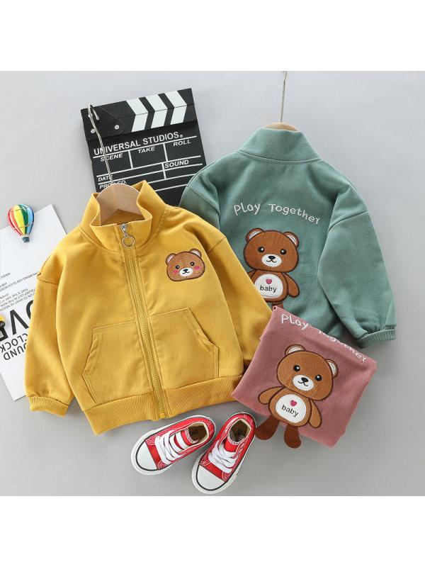 【12M-4Y】Boys Sweet Cartoon Bear Coat