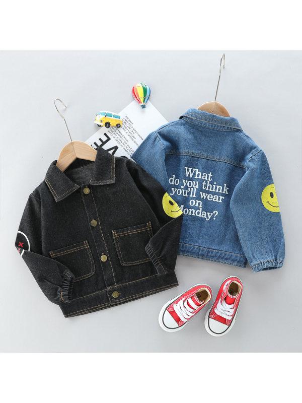 【12M-4Y】Boys Smiley Denim Jacket