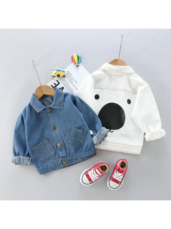【12M-4Y】Boys Big Nose Bear Denim Jacket